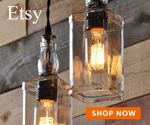 Whisky Bottle Lamp With Vintage Pulley Id Lights