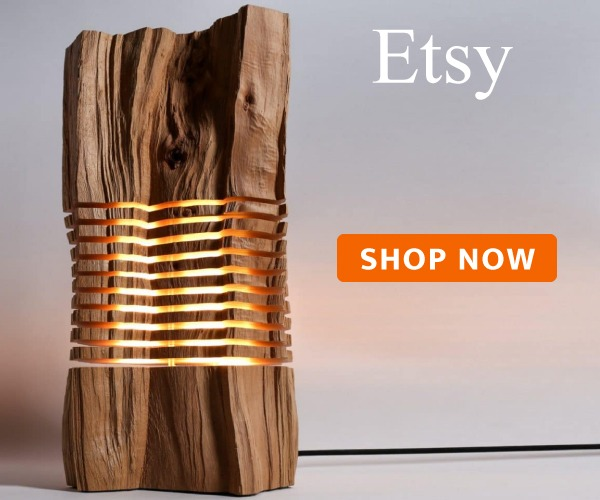 Beautiful Wooden Gear Table Lamp - wood-lamps, table-lamps