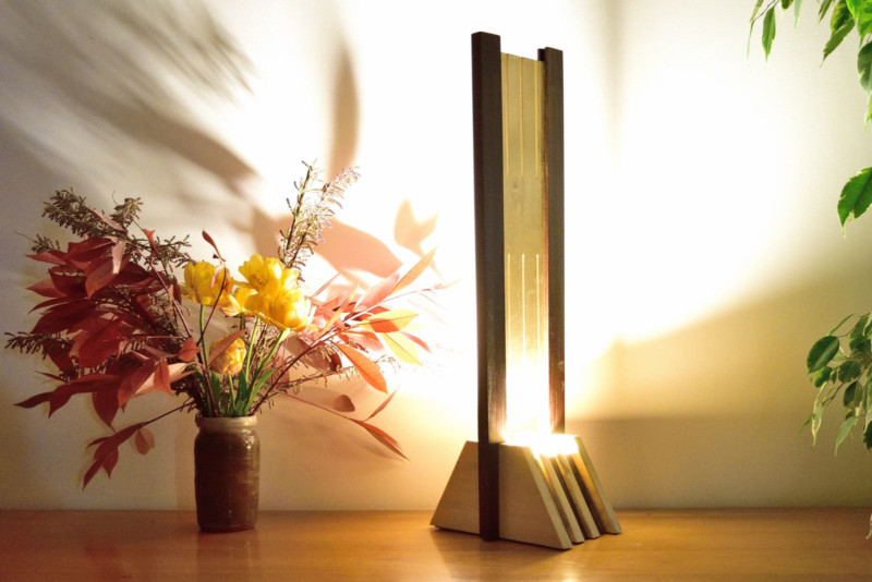 Olied Ipe and Varnished Tulip Tree Wood Lamp - wood-lamps, table-lamps