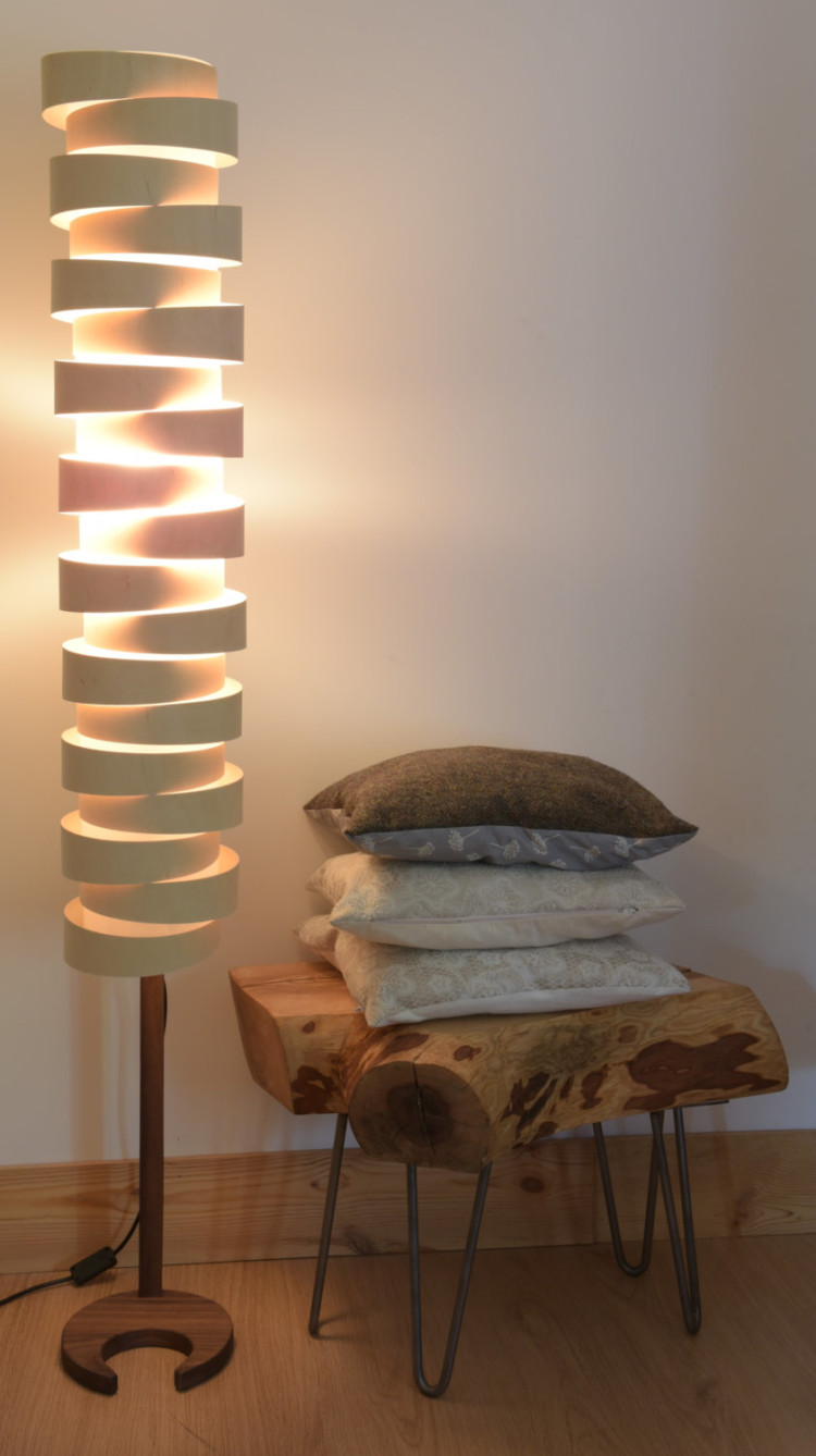 WRAP Wood Plywood Floor Lamp - floor-lamps