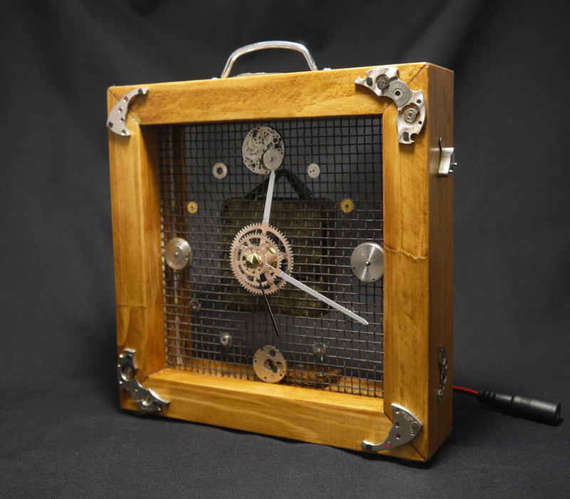 Steampunk Analog Mantel Clock