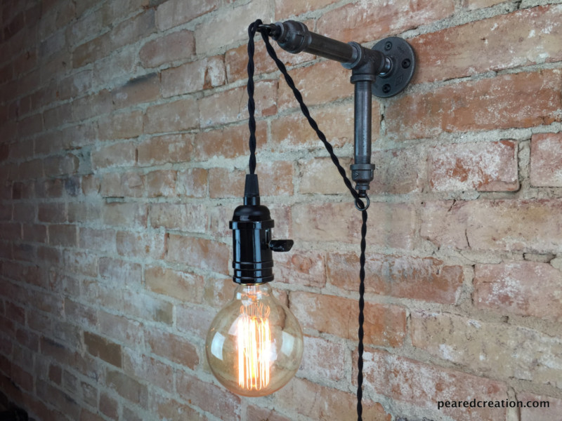 Industrial Hanging Edison Wall Sconce 1 - Wall Lamps & Sconces - iD Lights