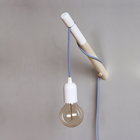 Minimalist Wood Textile Wall Lamp - wall-lights-sconces