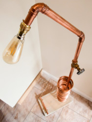 Tall Copper Floor Lamp