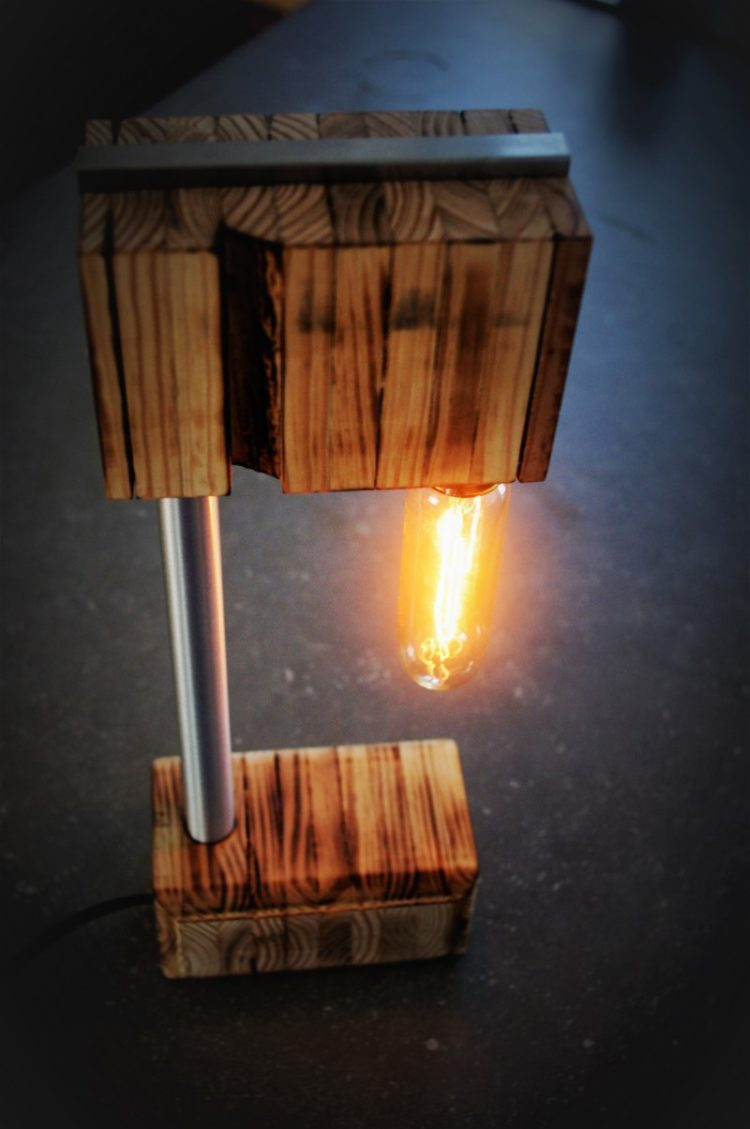 The Recycled Wooden Desk Lamp - wood-lamps, desk-lamps