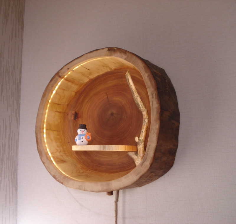 Cute Wooden Wall Lamp - wall-lights-sconces