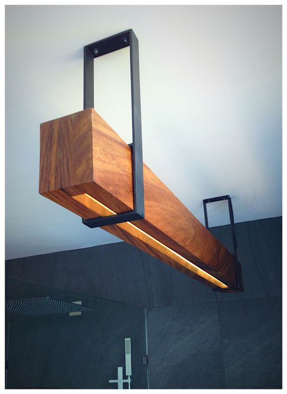 Amazing Design Wood Beam Lighting