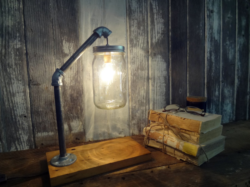 Mason Jar Desk Lamp - desk-lamps