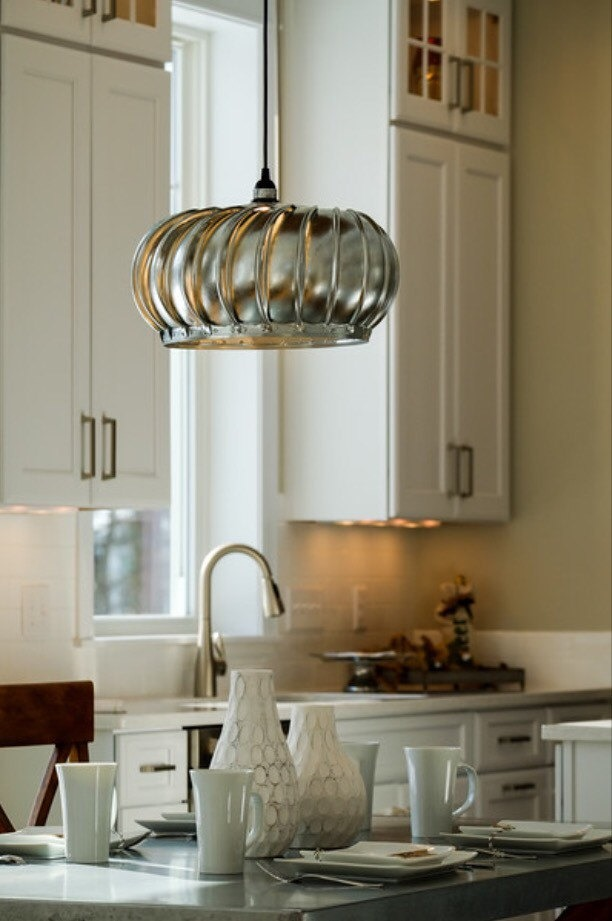Exhaust Turbine Pendant Light