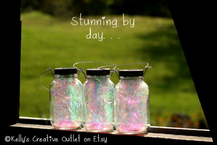 Solar Fairy Lantern Mason Jar - outdoor-lighting
