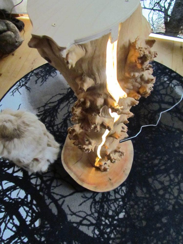 Tree Trunk Split LED Lamp - wood-lamps, floor-lamps