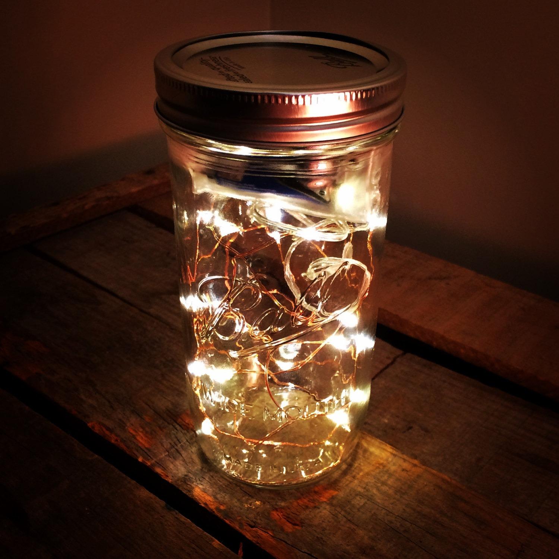 Fireflies Mason Jar with Battery Powered LEDs 1 - Outdoor Lighting - iD Lights
