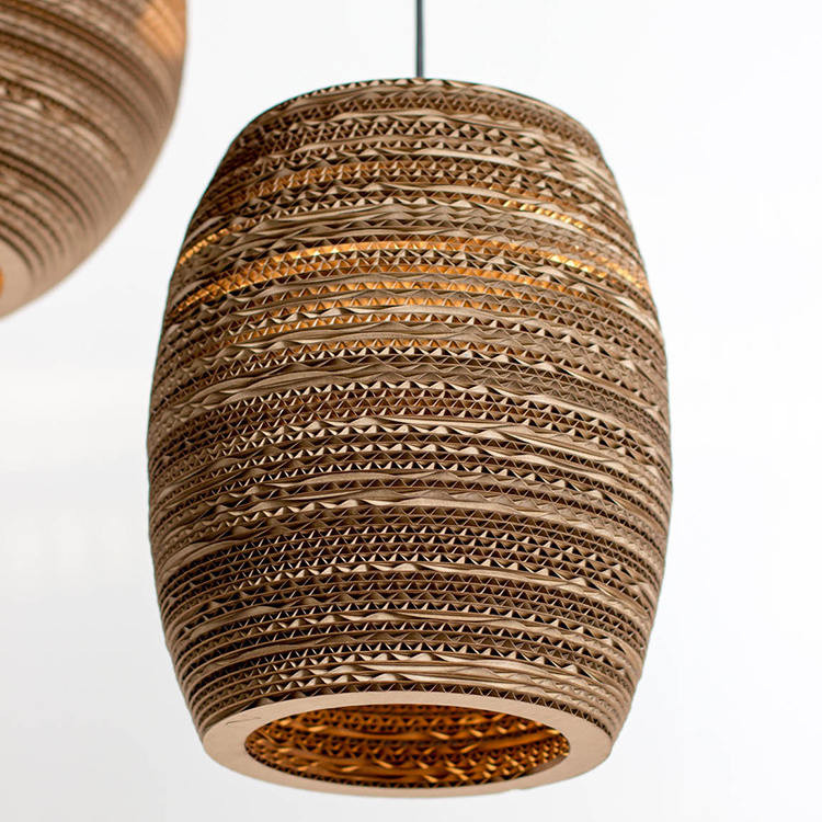Beehive Lampshade from Recycled Cardboard 1 - Pendant Lighting - iD Lights
