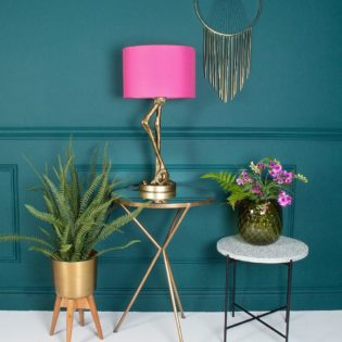 Brass Flamingo Leg Table Lamp With Pink Shade Id Lights