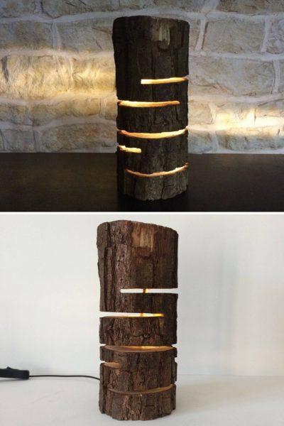 Design Wood Log Lamp