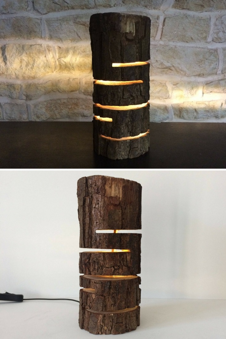 Design Wood Log Lamp