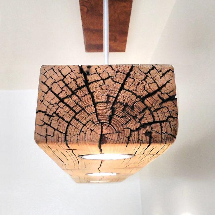 Reclaimed Wood Beam Spot LED Light Fixture
