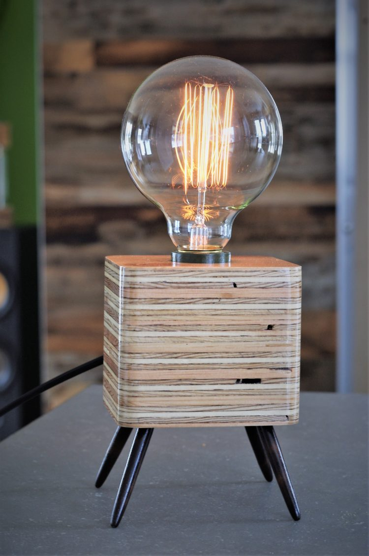 Amazing Retro Wood Table Lamp - wood-lamps, table-lamps