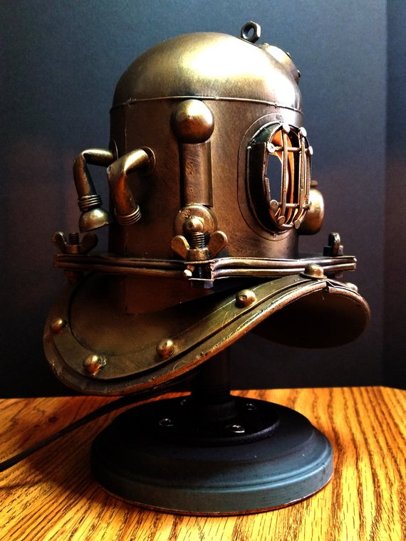 Nautical Scuba Divers Accent Lamp