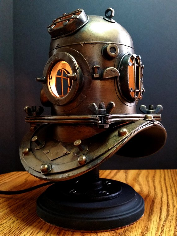 Nautical Scuba Divers Accent Lamp - table-lamps