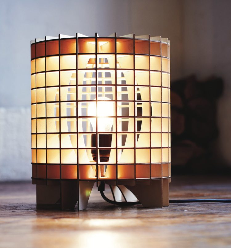 Cryptex Wooden Lamp