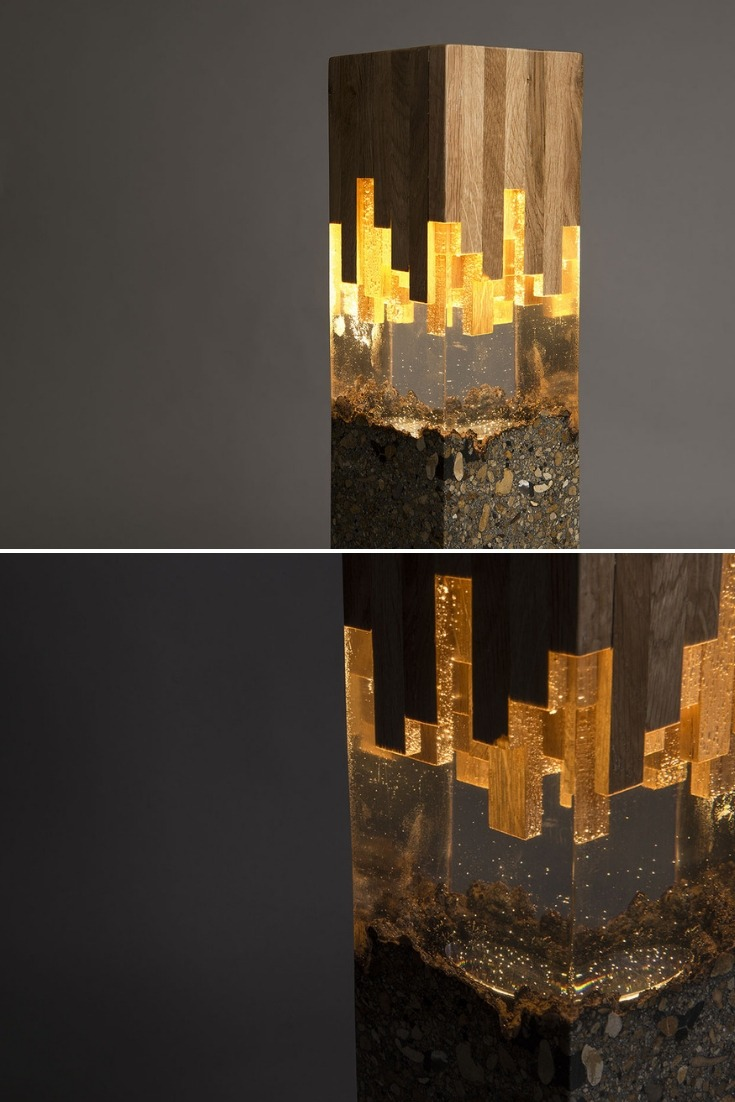 Wood & Resin Lamp