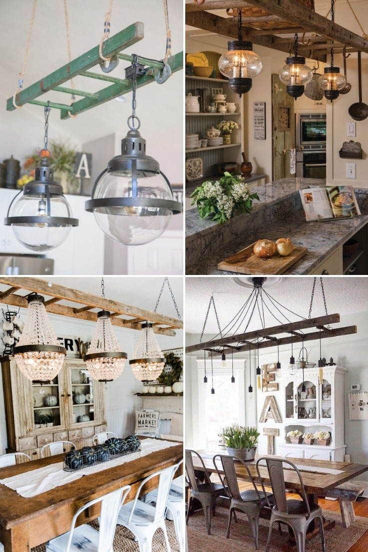 16 Best Ladder Light Fixtures & Chandeliers DIY Ideas