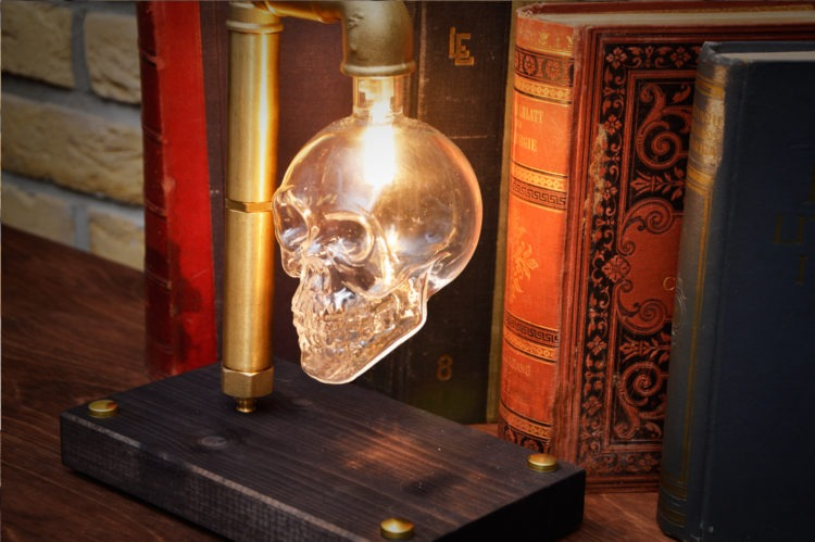 Skull Table Lamp 2 - Desk Lamps - iD Lights