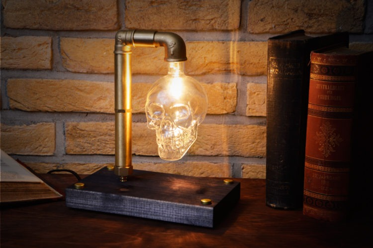 Skull Table Lamp 5 - Desk Lamps - iD Lights