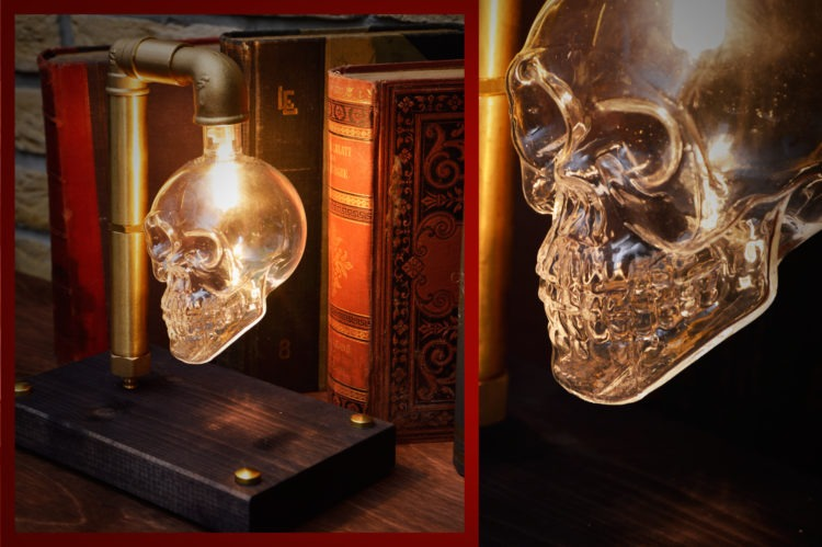 Skull Table Lamp 4 - Desk Lamps - iD Lights