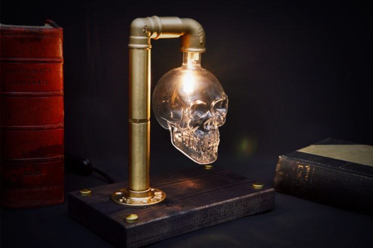 Skull Table Lamp 6 - Desk Lamps - iD Lights