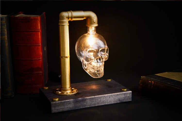 Skull Table Lamp 3 - Desk Lamps - iD Lights