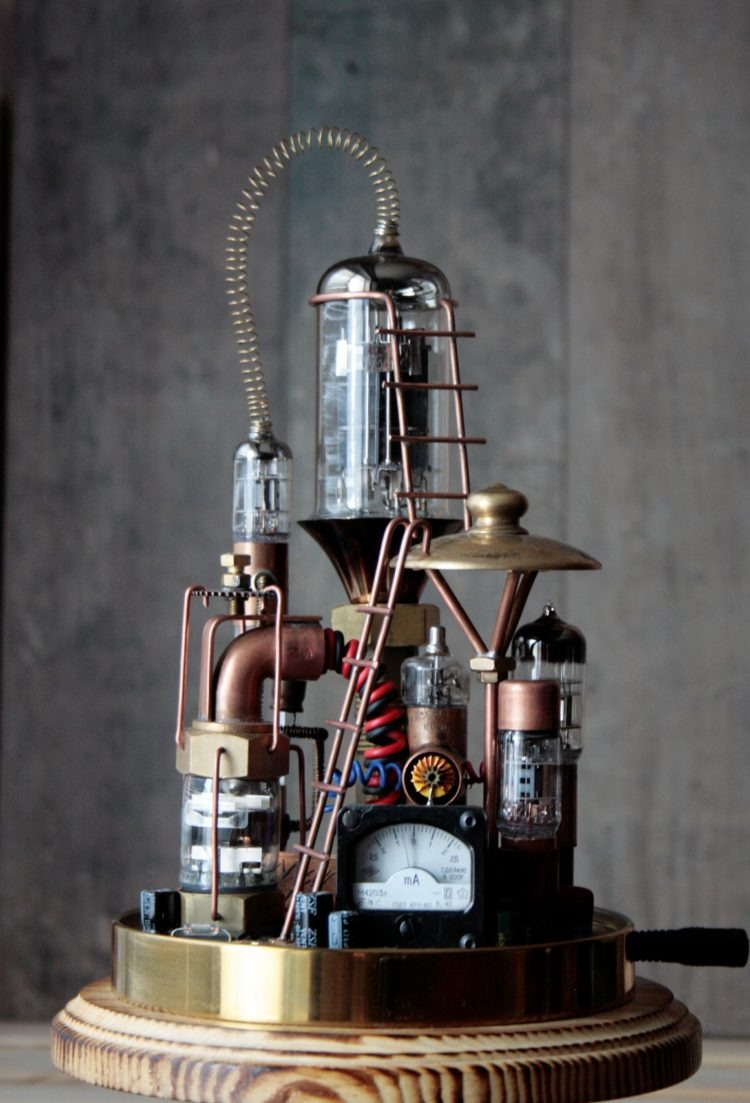 Pure Steampunk lamp Benjamin 2 - Desk Lamps - iD Lights