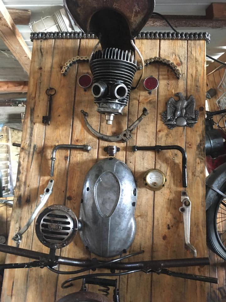 Amazing Wall Lamps Made with Recycled Motorbike Parts