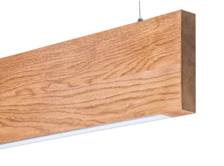 Wooden Modern LED Chandelier 2 - Pendant Lighting - iD Lights