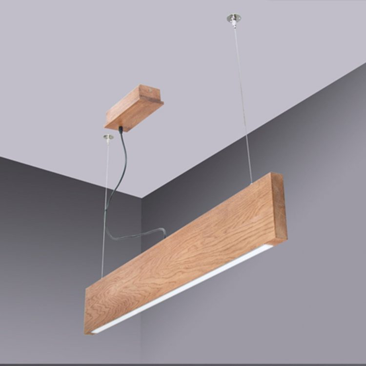 Wooden Modern LED Chandelier 1 - Pendant Lighting - iD Lights