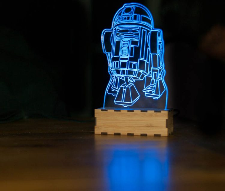 R2-D2 Star Wars Lamp 1 - Table Lamps - iD Lights