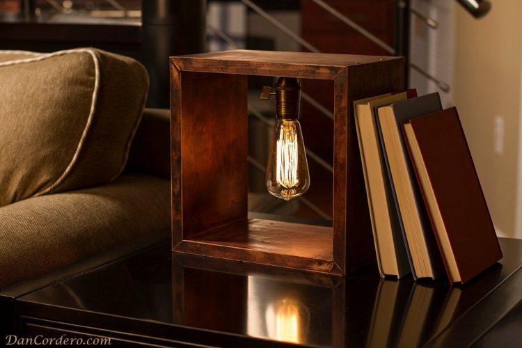 Shadow Box Edison Table Lamp