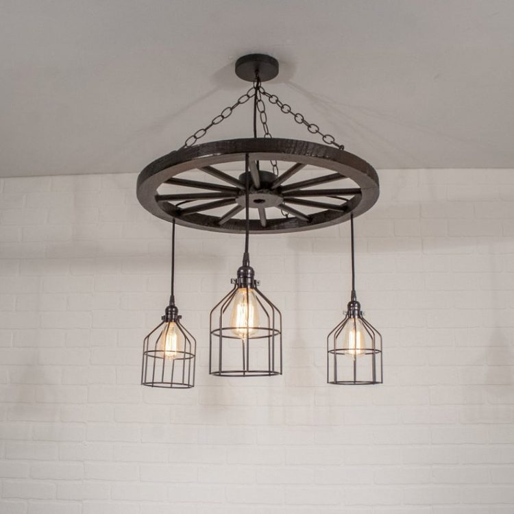 3 Pendant Chandelier Lighting with Cages