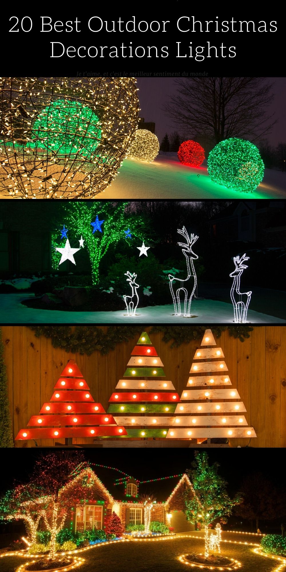 20 Best Outdoor Christmas Decorations Lights Id Lights