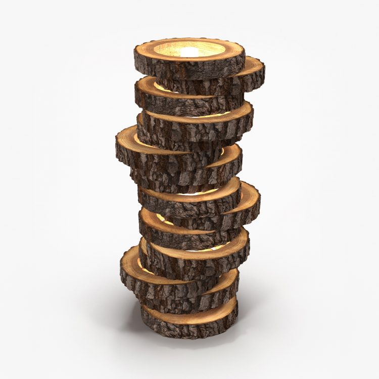 Amazing Wood Lamp Made with Logs 2 - Floor Lamps - iD Lights