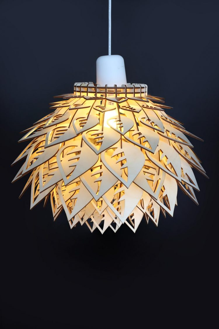 Leaf Wooden LED Lamp 3 - Pendant Lighting - iD Lights