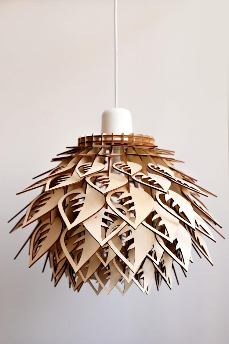 Leaf Wooden LED Lamp 1 - Pendant Lighting - iD Lights