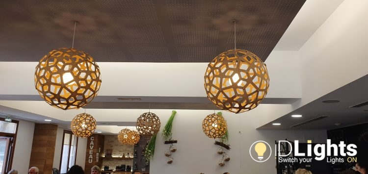 Pretty Wooden Ball Lamps 2 - Pendant Lighting - iD Lights