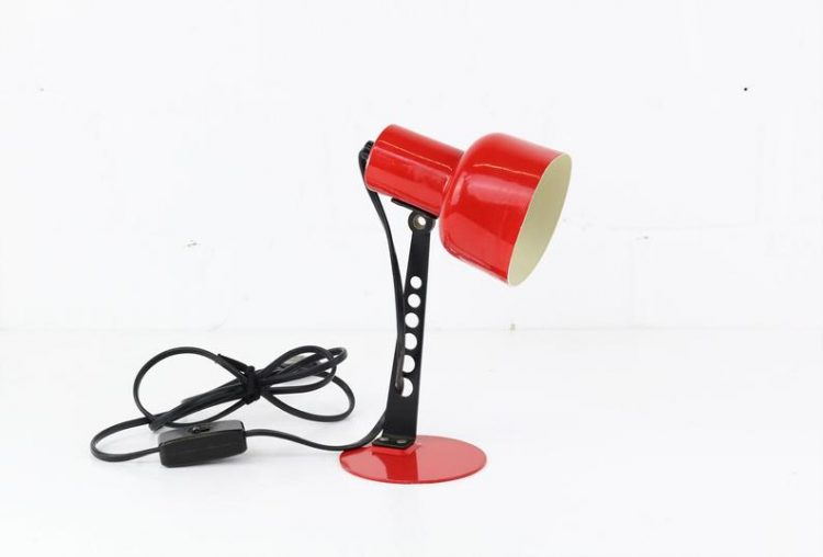 Vintage Desk Light red industrial Design Desk lamp
