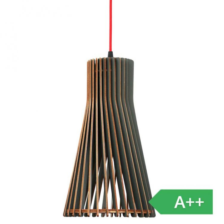 cassela Aktro Wood Pendant Lamp Dark Gray, Different Sizes -