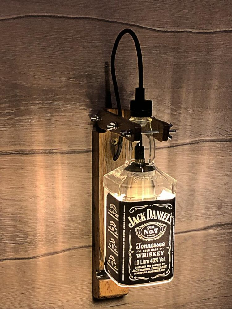 JACK DANIELS Wall lamp whiskey bottle Lamp Kitchen decor Lamp