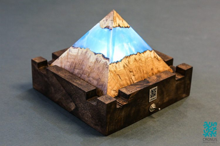 Cronus Mysterious Pyramid Art Lamp 2 - Table Lamps - iD Lights