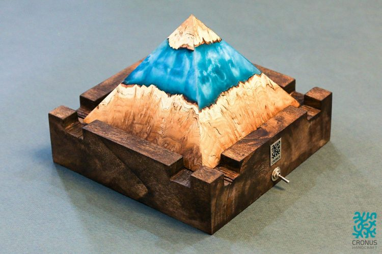 Cronus Mysterious Pyramid Art Lamp 1 - Table Lamps - iD Lights