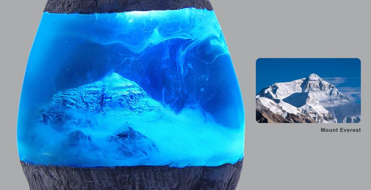 Mount Everest Resin Stone Lamp 3 - Table Lamps - iD Lights